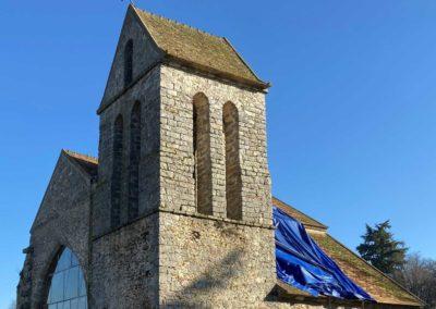 Remplacement de la couverture en tuile d'une chapelle en Essonne (91)